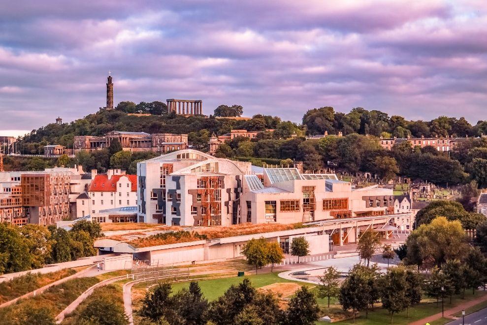 Calton Hill Scottish Parlament.