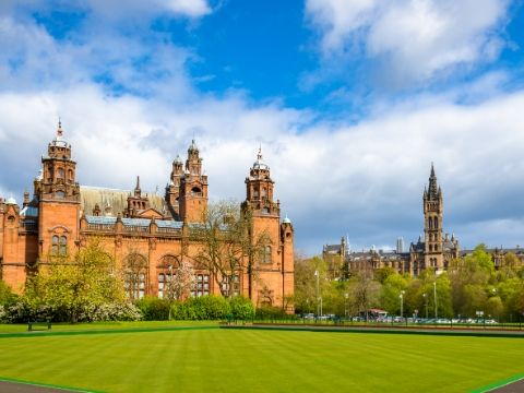 Kelvingrove Museum and Glasgow University Scotland.