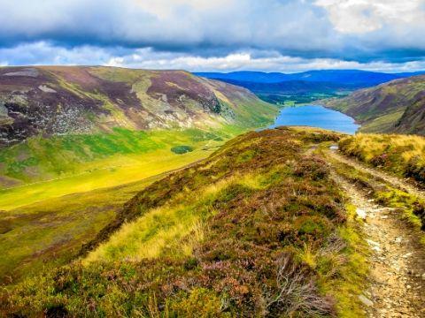 Loch Lee Angus Scotland.