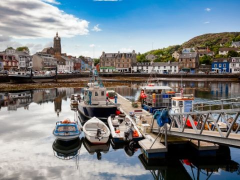 Tarbert Harbour Argyll and Bute Scotland UK.