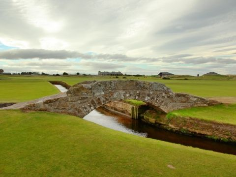 The Famous Swilcan Bridge on St Andrew Old Course.
